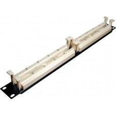 Патч-панель 100 телефонных пар 110 тип в 19 дюймовую стойку